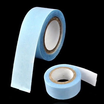 New Fashion Tape Weft Human Hair Extensions Replacement Blue Tape Bulk Roll 3m Extra Strong