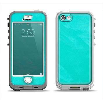 The Subtle Neon Turquoise Surface Apple iPhone 5-5s LifeProof Nuud Case Skin Set