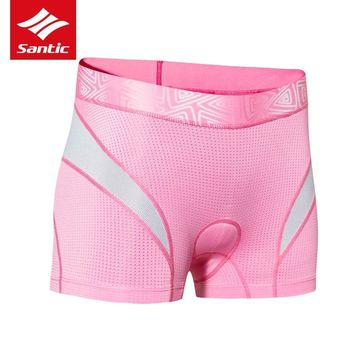 Santic Women Cycling Shorts 4D Sponge Padded Cycling Underwear Breathable Mountain Road Bike Bicycle Shorts Bermuda Ciclismo