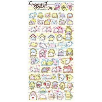 Mamegoma Yurumame Life Striped Sticker Sheet