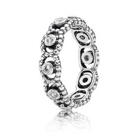 Her Majesty Stackable Ring, Clear CZ