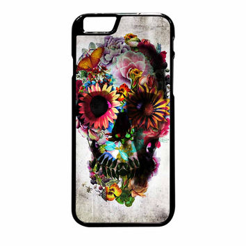 Floral Sugar Skull iPhone 6 Plus Case