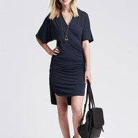 Banana Republic Womens Heathered Faux Wrap Dress