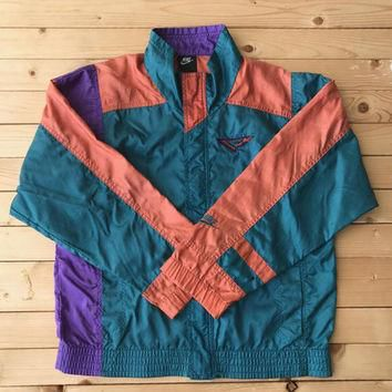 Vintage Nike Flight Air Jordan Windbreaker Colorblock Retro Clothing Unisex Jacket Wor