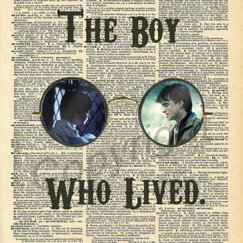 Harry Potter The Boy Who Lived Dictionary Art Print