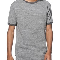Zine Ringer Heather Grey T-Shirt