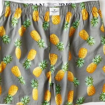 AEO Men's Pineapple Boxer (Grey)