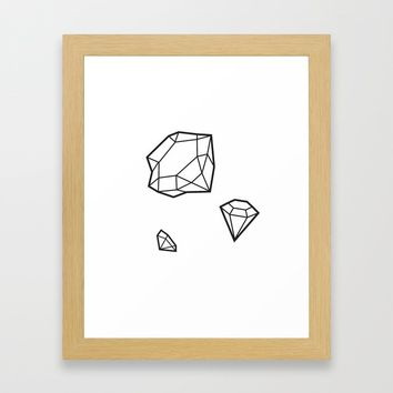 Shape of Gems Framed Art Print by allisone
