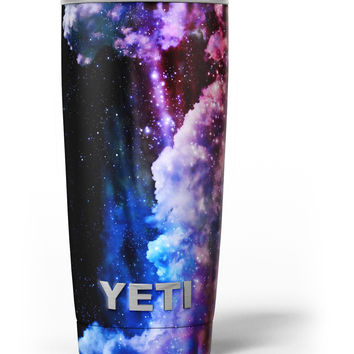 Purple Blue and Pink Cloud Galaxy Yeti Rambler Skin Kit