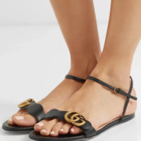 GUCCI Marmont logo-embellished leather sandals