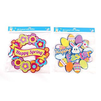 Easter 4 Dimensional Paper Wreath - CASE OF 48