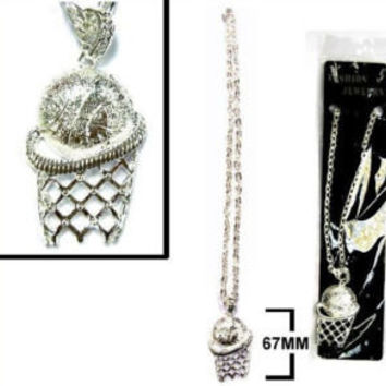 HEAVY BLING BASKETBALL  NECKLACES jewelry hip hop JL401