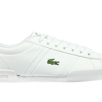 Lacoste Deston Leather Trainers - White