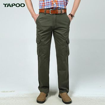 Tapoo Brand Mens Jogger Pencil Pants Slim Straight Men Casual Pants Man Pocket Trousers Military Camouflage Tactical Joggers