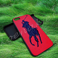 Polo Ralph Lauren Original Logo in Red in Koenakjes for iphone 4/4s/5/5s/5c, iPad Mini/Air/2/3/4, iPod 4th/5th, Samsung S3/S4/S5/Note 3