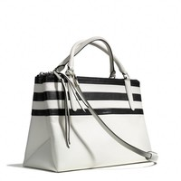 THE BOROUGH BAG IN BAR STRIPE LEATHER