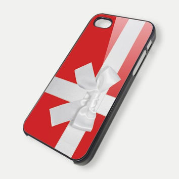 Christmas Red Box with Bow qq iPhone Case And Samsung Galaxy Case