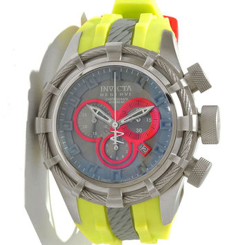 Invicta 10962 Men's Reserve Bolt Sport Grey Dial Yellow Rubber Strap Chronograph Dive Watch
