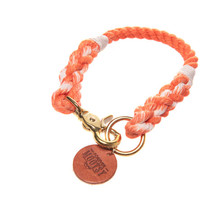 Tangerine Ombré Rope Dog Collar