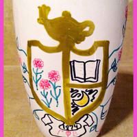 Painted Gamma Phi Beta Sorority Crest Mug