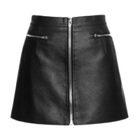 Zippered Raw Edge Mini Skirt by Alexander Wang for Preorder on Moda Operandi