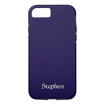 Solid Navy Blue Personalized iPhone 7 Case