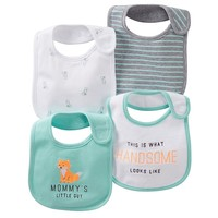 Carter's 4-pk. Fox Bibs (Green)