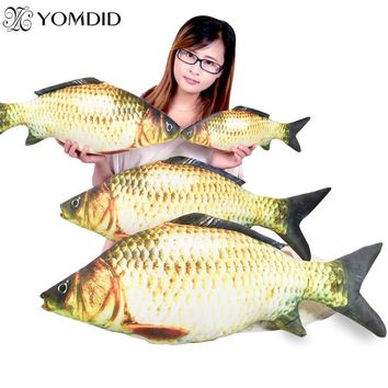 Fish Plush Pillow Hot Sale Funny New Simulation Fish Pillows Soft Crucian Carp Stuffed Animals Dolls Cartoon Golden Fish Pillow