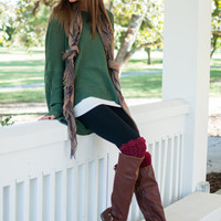 Just Breathe Sweater, Olive