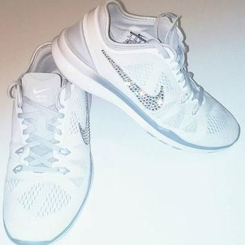 Bling Nikes, Nike 5.0, custom nike sneakers, Nike bling, Nikes with Crystals, Blinged