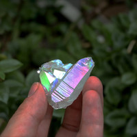Angel Aura Quartz Cluster // Wiccan Altar Supplies // Opal Quartz Crystal Cluster Specimen // Wicca Altar Supply // Rainbow Aura Quartz AQ17