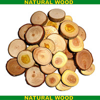 Wood Discs Natural Wood Slices Wooden Disc Supplies Findings Weddings Tag For Keychains, Pendants, Magnets, Buttons, Wall Art, Table Numbers