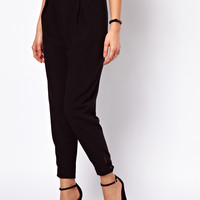 ASOS PETITE Exclusive Soft Trousers With Cuff at asos.com