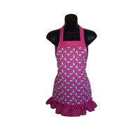 Hello Kitty Chevron Kids Apron // Hello Kitty Apron // Size 4-6-8-Young Adult