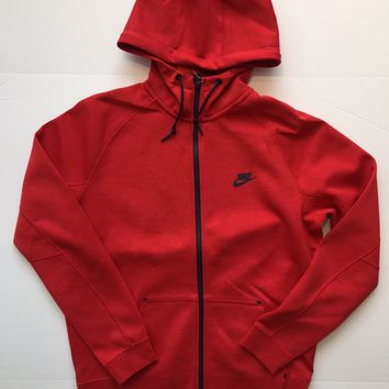 KUYOU Nike Tech Fleece Zip Up Hoodie Red 559592-672