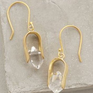 Herkimer Horseshoe Drops by Roost Clear One Size Earrings