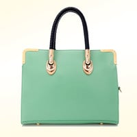 Elegant Useful Simple Glossy Handbag