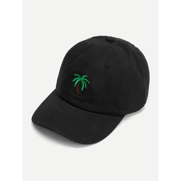 Embroidered Palm Baseball Cap