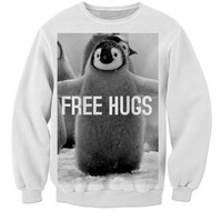 Free Hugs penguins.