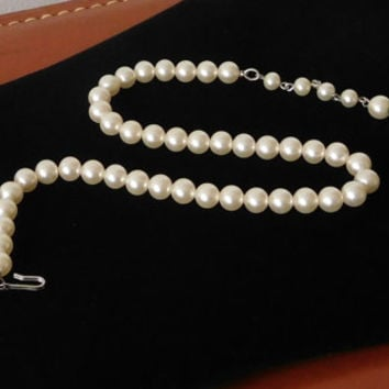 Pearl Choker Adjustable Faux Pearl Chain Boho Wedding Necklace Vintage Costume Jewelry