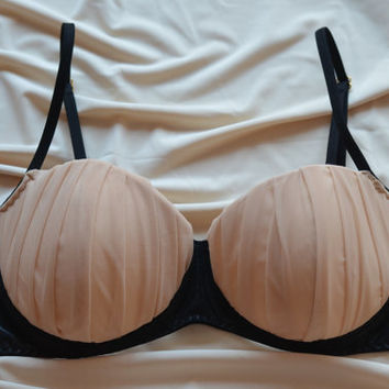Clothing Shoes & Accessories Women's Clothing Intimates Bras  The Nude Beauty Ruffled Cups Bra Made to Order