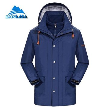 New Mens Long Winter Sport Hiking Camping Ski Snowboard Outdoor Coat Windbreaker Waterproof Jacket Men 3in1 Fleece Liner Casaco