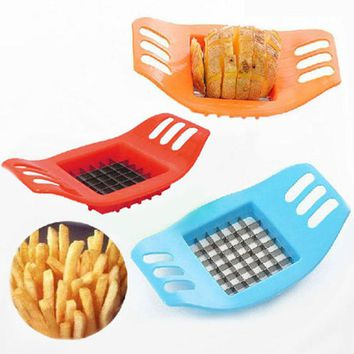 Free Ship Vegetable Potato Slicer Cutter French Fry Cutter Chopper Chips Making Tool Potato Cutting Kitchen Gadgets