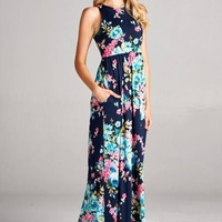 From the Ground Up Floral Maxi Dress