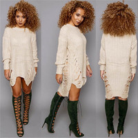 European and American foreign trade of large size women aliexpress Amazon explosion tassel knitted women [8341501697]