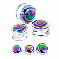 Oil Spill Frost Glass Plug