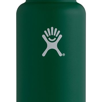 Hydro Flask Double Wall Vacuum Insulated Stainless Steel Leak Proof Sports Water Bottle, Wide Mouth with BPA Free Flex Cap