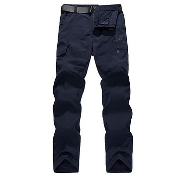Quick Dry Casual Pants Men Summer Army Military Style Trousers