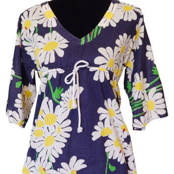 Lilly Pulitzer Blue Tunic Blouse Size SMALL