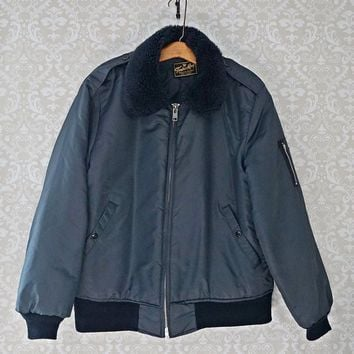 Vintage 1970s Bomber + Military Flight Jacket